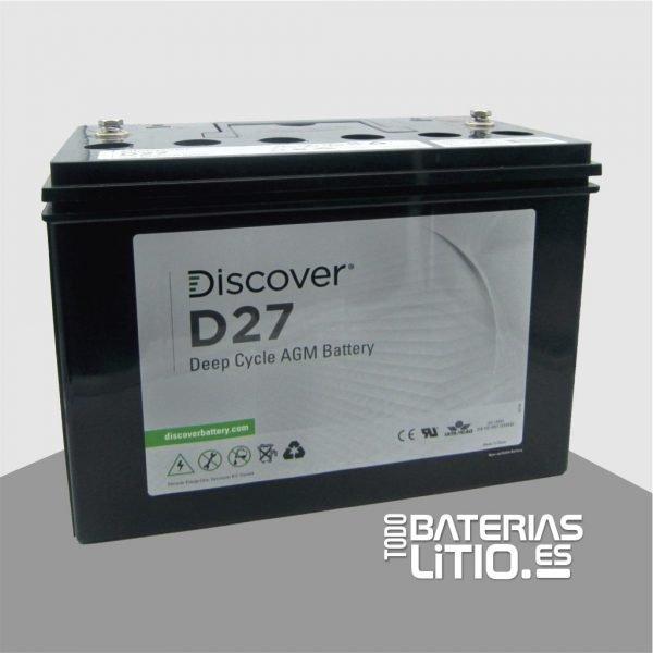 D27 Batería de tracción - Todo Baterías Litio