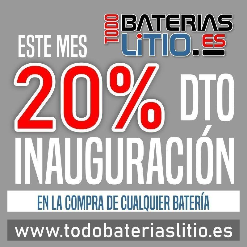Oferta de Lanzamiento 20 dto - Todo Baterias Litio