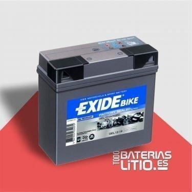 Baterias de traccion para motocicletas bmw - Exide Bike 12-19 - Todo baterias litio