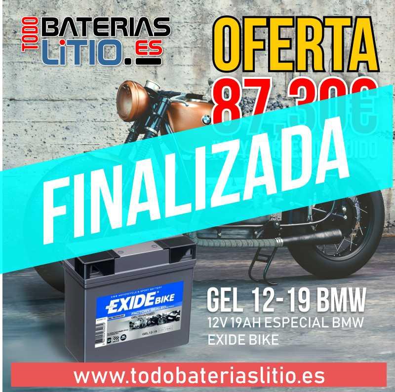 EXIDE BMW GEL 12-19 Finalizada - TODO BATERÍAS LITIO