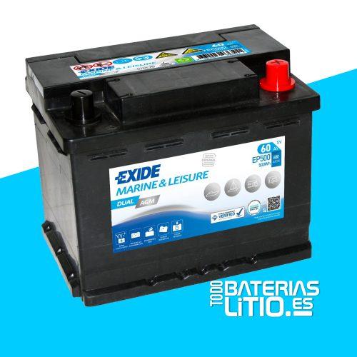Batería EXIDE EP500 Baterías para motocicletas - TODO BATERIAS LITIO