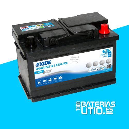 Batería EXIDE EP600 Baterías para motocicletas - TODO BATERIAS LITIO
