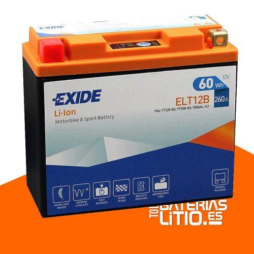 ELT12B EXIDE - Baterías para motocicletas - TODO BATERIAS LITIO