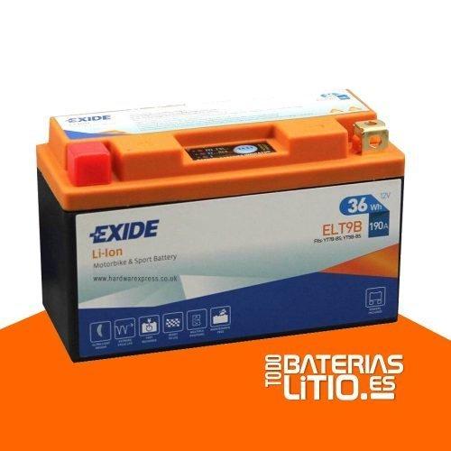 ELT9B 2- EXIDE - Baterías para motocicletas - TODO BATERIAS LITIO