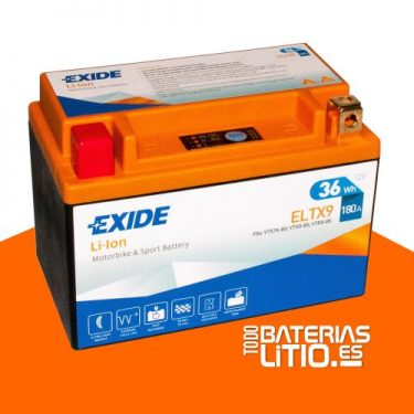 ELTX9 - EXIDE - Baterías para motocicletas - TODO BATERIAS LITIO