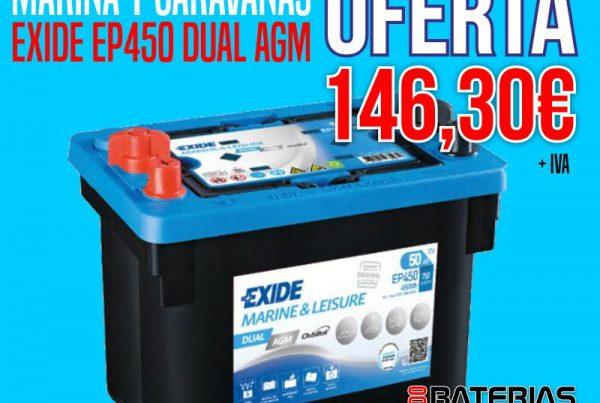 EXIDE EP450 DUAL AGM - OFERTA DE AGOSTO - Todo Baterias Litio