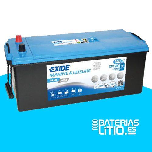 bateria-exide-marine-multifit-dual-agm-ep1200-12v-140ah-700a Baterías para motocicletas - TODO BATERIAS LITIO