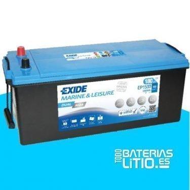 bateria-exide-marine-multifit-dual-agm-ep1500-12v-180ah-900a Baterías para motocicletas - TODO BATERIAS LITIO