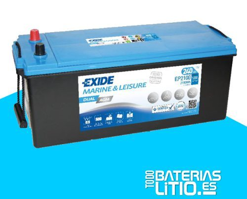 bateria-exide-marine-multifit-dual-agm-ep2100-12v-240ah-1200a Baterías para motocicletas - TODO BATERIAS LITIO
